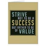 Tarjeta de felicitación de motivación del éxito y