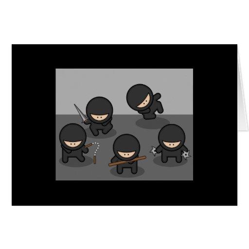 Tarjeta de felicitación de Ninja (negro)