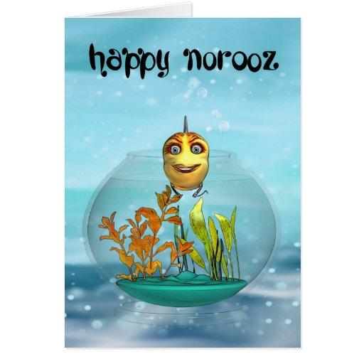 Tarjeta de felicitación de Norooz con el Goldfish