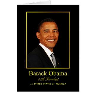 Tarjeta de felicitación de Obama - espacio en blan