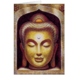 Tarjeta de felicitación de oro de Buda