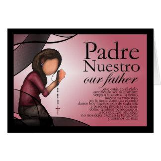 """Tarjeta de felicitación de """"Padre Nuestro"""""""