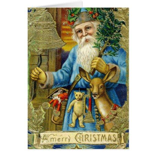 Tarjeta de felicitación de Papá Noel del Viejo Mun