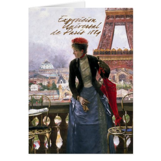 Tarjeta de felicitación de París del Dama