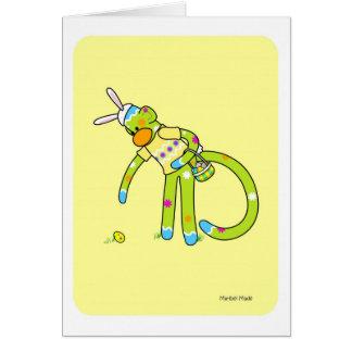 Tarjeta de felicitación de Pascua Bunkey