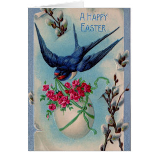 Tarjeta de felicitación de Pascua del pájaro del t