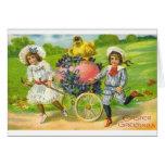 Tarjeta de felicitación de Pascua del Victorian