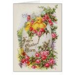 Tarjeta de felicitación de Pascua del vintage de l