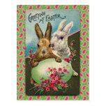 Tarjeta de felicitación de Pascua del vintage Postal
