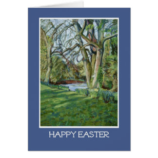 Tarjeta de felicitación de Pascua, Riverbank en
