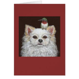 Tarjeta de felicitación de pelo largo de la chihua