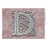 Tarjeta de felicitación de piedra de la tarjeta de