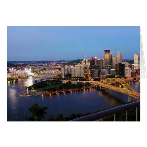 Tarjeta de felicitación de Pittsburgh, Pennsylvani