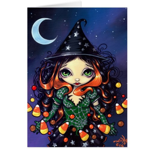"""Tarjeta de felicitación de """"poca bruja del caramel"""