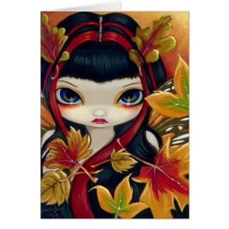 """Tarjeta de felicitación de """"pocas hojas de otoño"""""""
