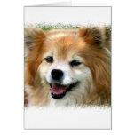 Tarjeta de felicitación de Pomeranian