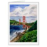Tarjeta de felicitación de puente Golden Gate