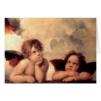 Tarjeta de felicitación de Putti de Rafael