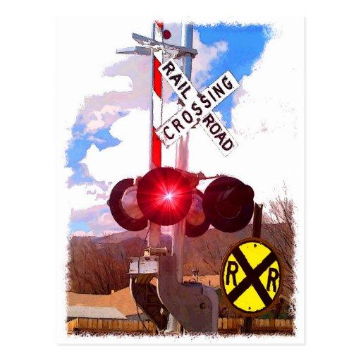 Tarjeta de felicitación de Railroadiana Tarjeta Postal