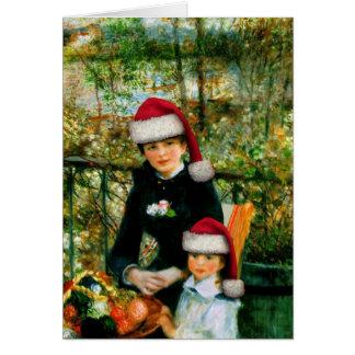 Tarjeta de felicitación de Renoir Santa