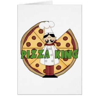 Tarjeta de felicitación de rey Pizza de la pizza