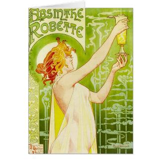 Tarjeta de felicitación de Robette del ajenjo de A