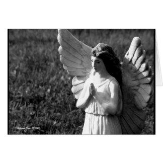 Tarjeta de felicitación de rogación del ángel de B