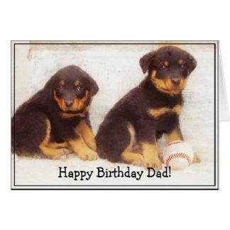 Tarjeta de felicitación de Rottweiler del papá del