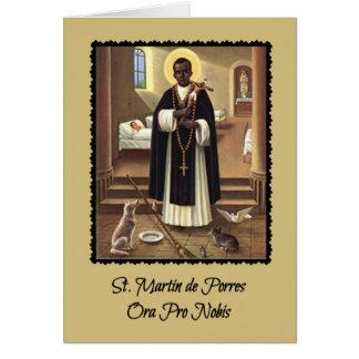 Tarjeta de felicitación de San Martín de Porres