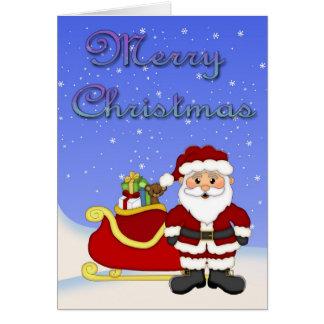 Tarjeta de felicitación de Santa de las Felices Na