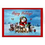 Tarjeta de felicitación de Santa del navidad de lo