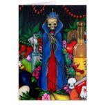 """Tarjeta de felicitación de """"Santa Muerte"""""""