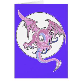 Tarjeta de felicitación de señora Dragon