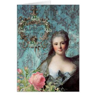 Tarjeta de felicitación de señora Pompadour