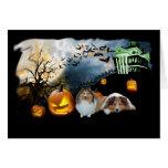 Tarjeta de felicitación de Sheltie Halloween