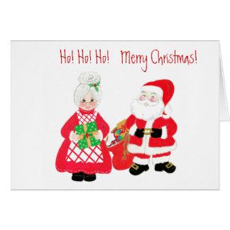 Tarjeta de felicitación de Sr. y de señora Santa