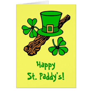 Tarjeta de felicitación de St Patrick del gorra y