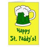 Tarjeta de felicitación de St Patrick verde de la
