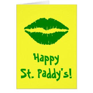 Tarjeta de felicitación de St Patrick verde del be