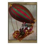 Tarjeta de felicitación de Steampunk Santa