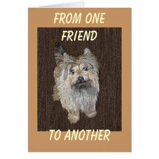 Tarjeta de felicitación de Terrier de mojón