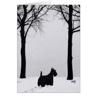 Tarjeta de felicitación de Terrier del escocés