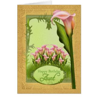 Tarjeta de felicitación de tía Lily Birthday