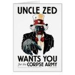 Tarjeta de felicitación de tío Zed