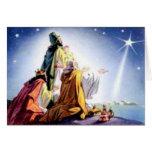 Tarjeta de felicitación de tres hombres sabios