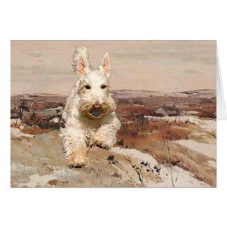 Tarjeta de felicitación de trigo de Terrier del es