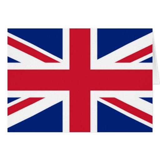 Tarjeta de felicitación de Union Jack
