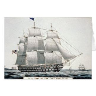Tarjeta de felicitación de USS Ohio