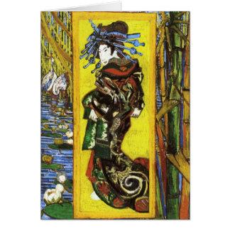 Tarjeta de felicitación de Van Gogh Japonaiserie O