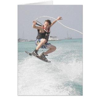 Tarjeta de felicitación de Wakeboarding